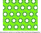 Green Vector Flower Pattern