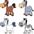 Cartoon Horse Vector Icons