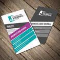Colorful Vertical Business Card Template