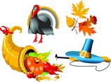 Autumn Icons Vector Graphics