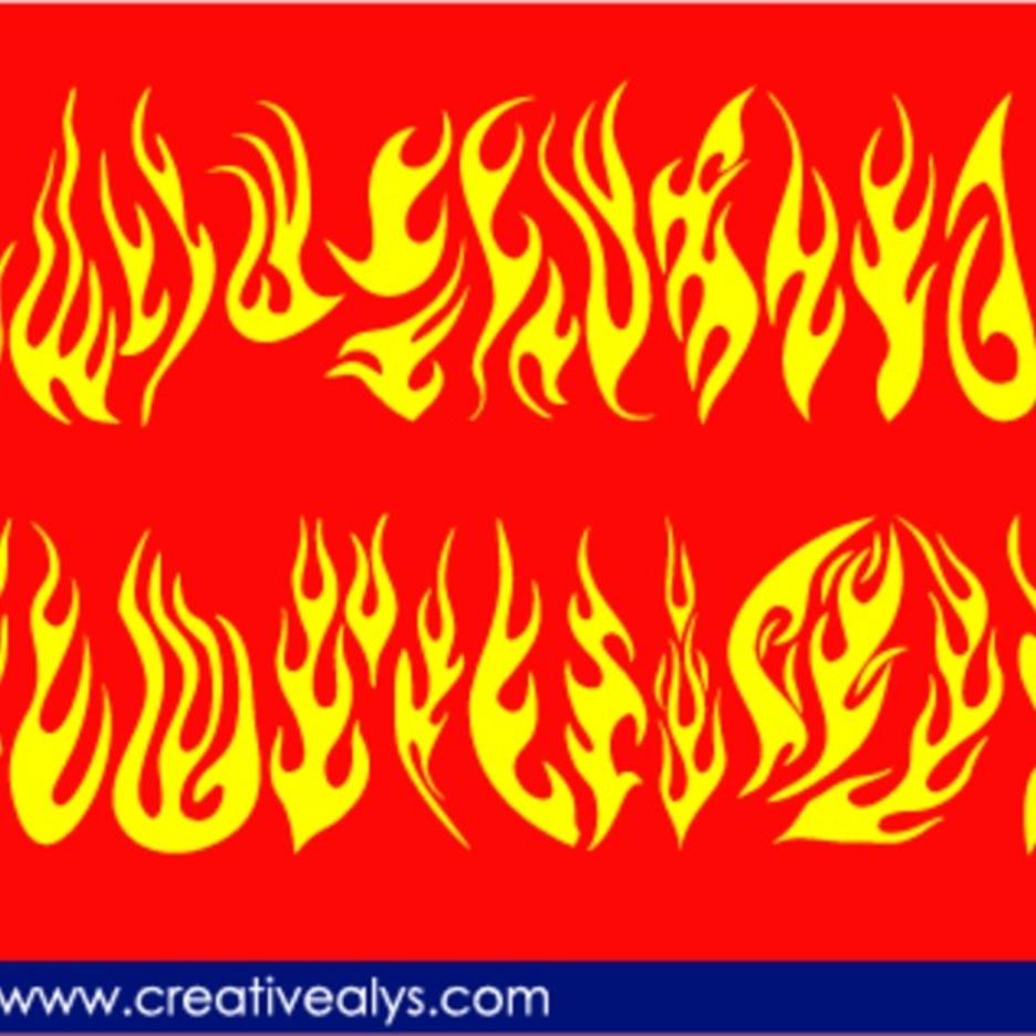 Creative Flames For Logo Design