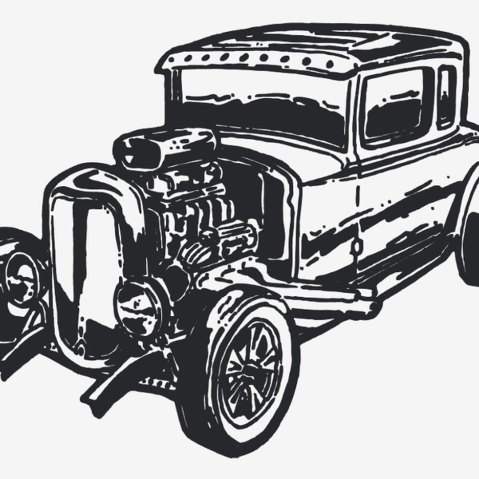 Free Vector Vintage Car Hot Rod