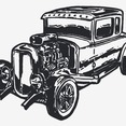 Free Vector Vintage Car Hot Rod
