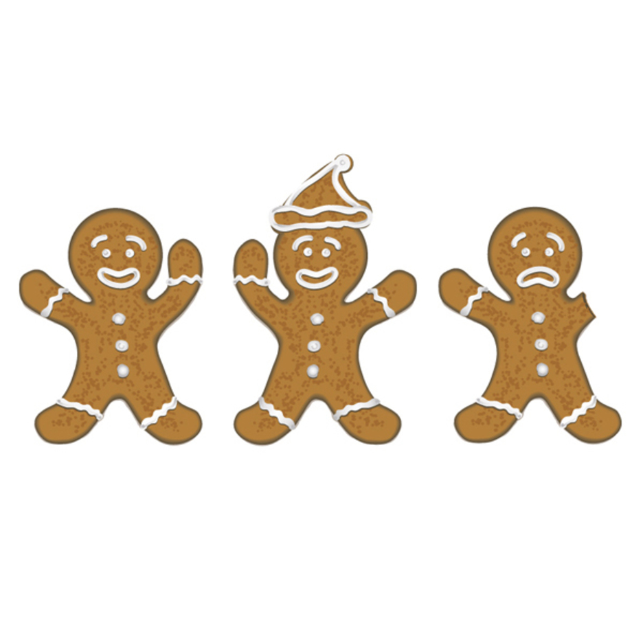 Free Vector Christmas Gingerbread Men
