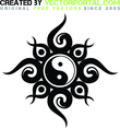 Free Vector Yin Yang Tribal Design