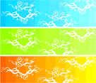 Free Vector Banner With Abstract Background