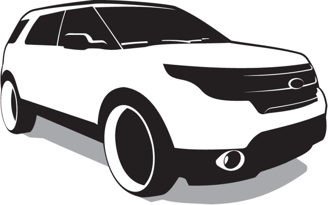Free Vector SUV - Ford Explorer Vector