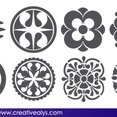 Free Vector Abstract Floral Design Elements