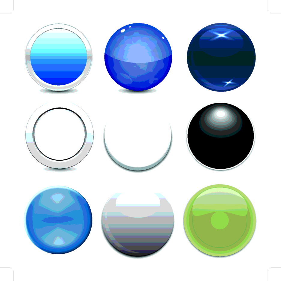 9 Free Vector Circle Button Styles
