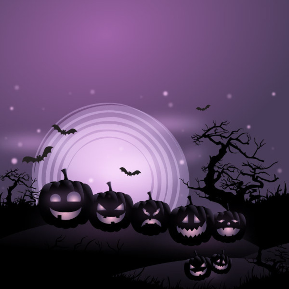 Free Vector Halloween Pumpkins Background