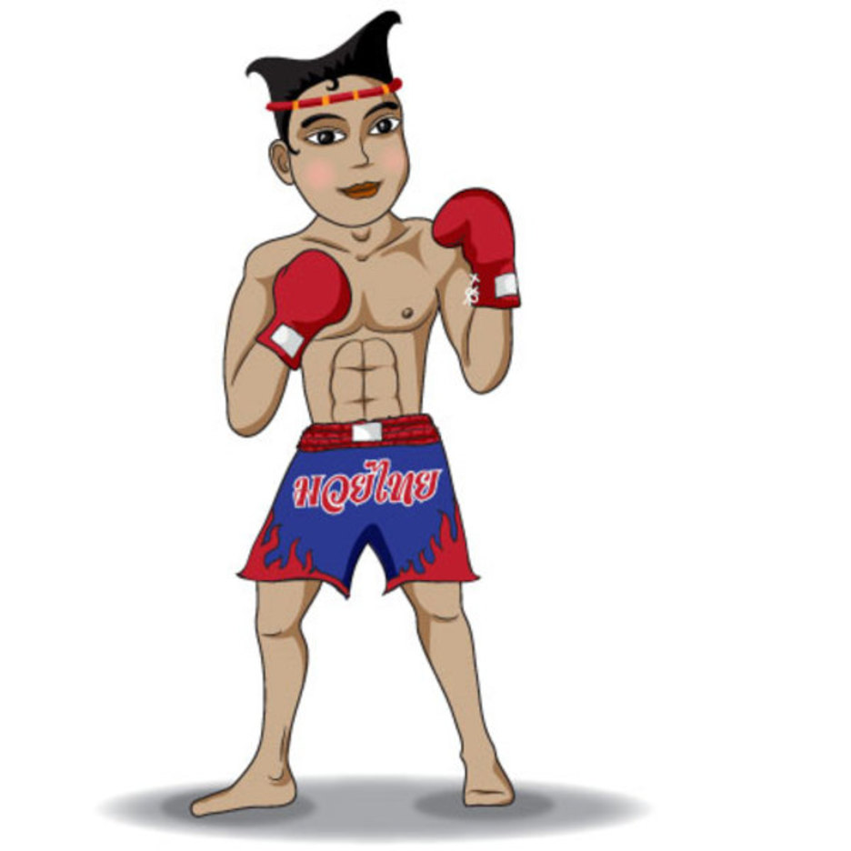 Free Thai Boxing Vector