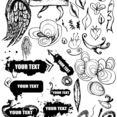 Free Vector Grungy Hand Drawn Design Elements
