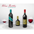 Free Vector Wine Bottle Pack