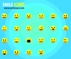 Free Vector Smile Icons