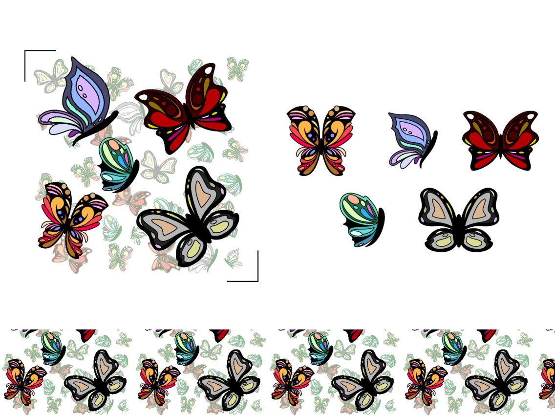 Free Vector Butterfly Pattern