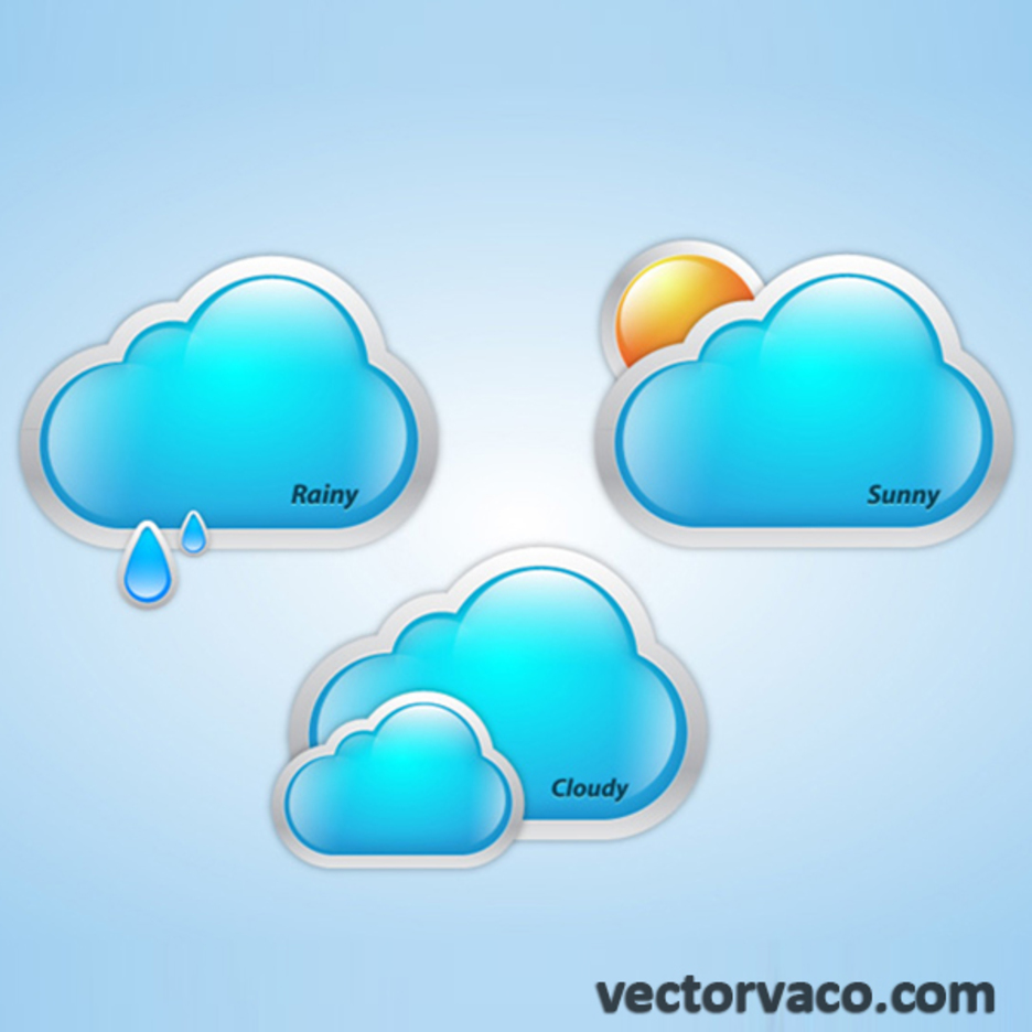 Free Vector Weather Clouds