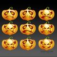 Free Vector Halloween Pumpkins Pack