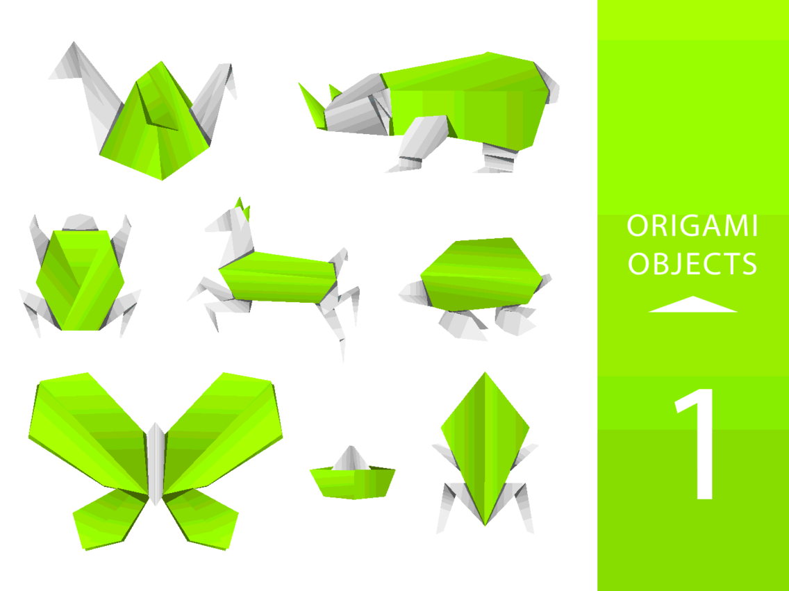 Free Vector Origami Animals