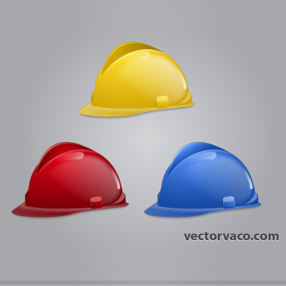 Free Vector Construction Hats
