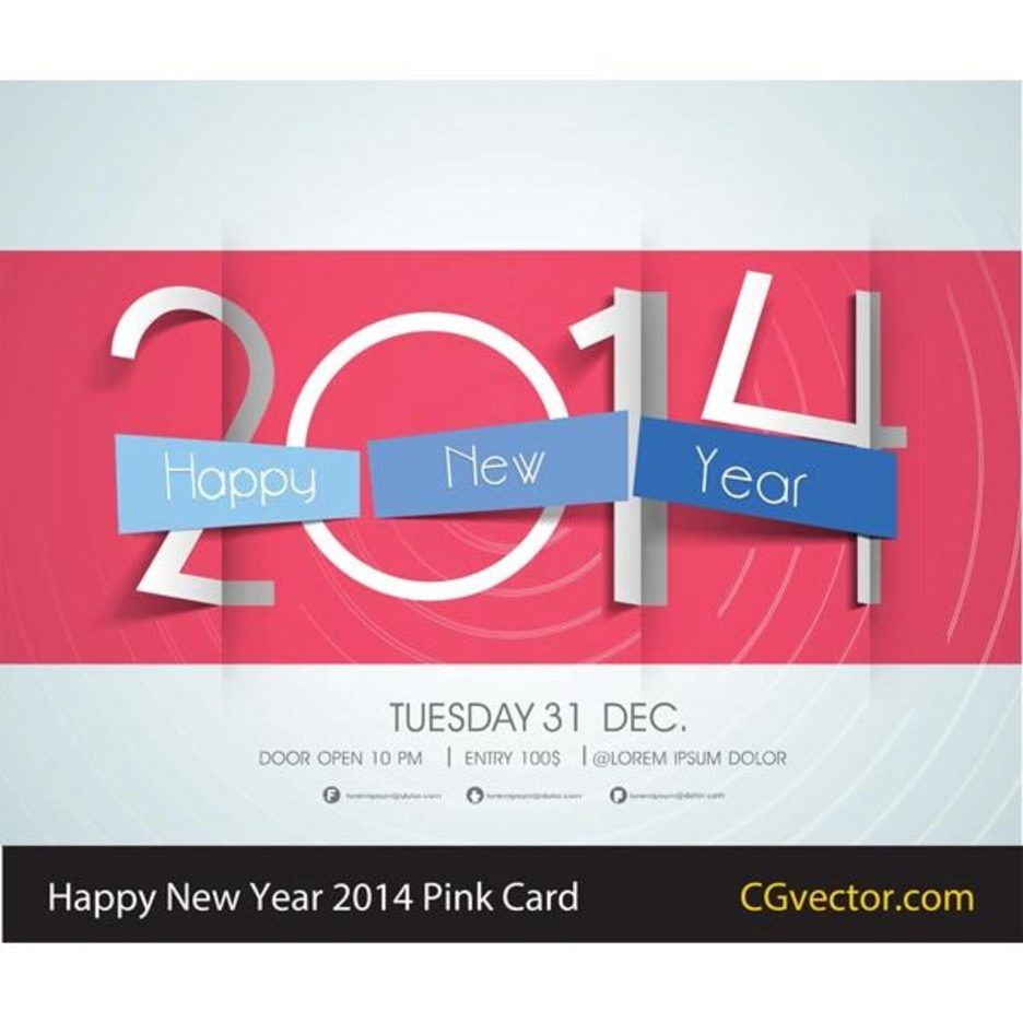 Free Vector Happy New Year Card