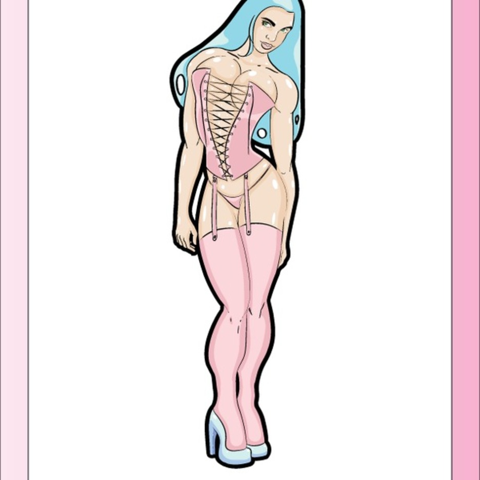 Free Vector Pinup Girl In Pink Lingerie