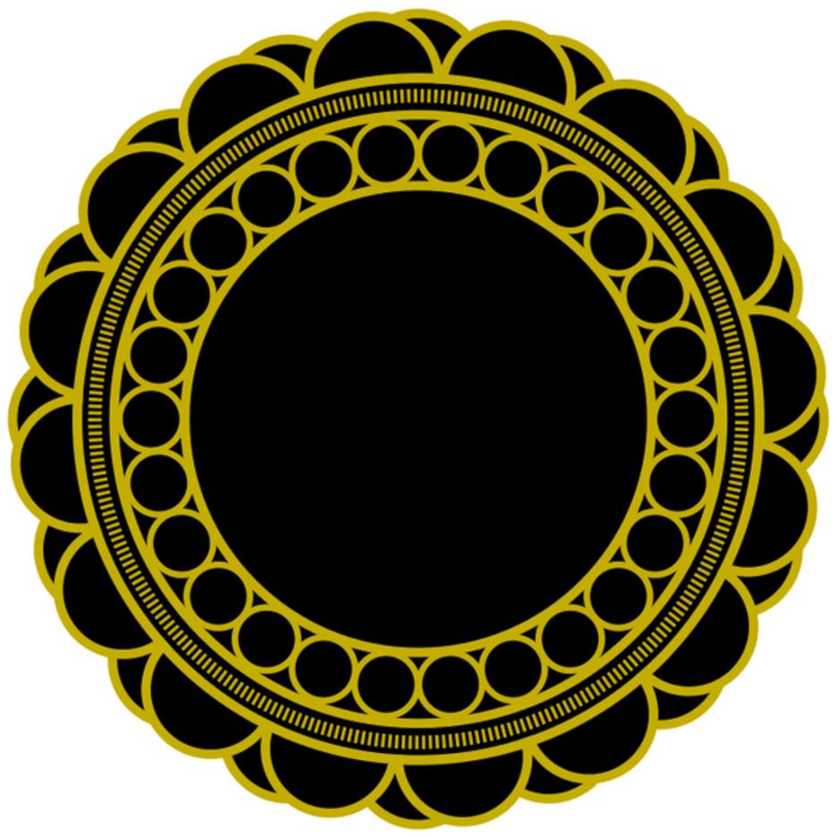 Free Circular Floral Vector Ornament