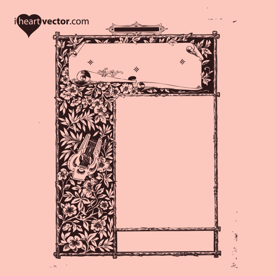 Free Antique Frame Vector 6
