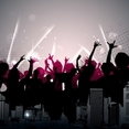 Free Urban Dance Party Vector
