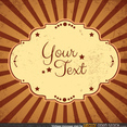 Free Vintage Sunburst Vector Background