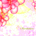 Free Floral Invitation Vector