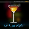 Free Vector Cocktail Background