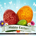 Free Easter Wallpaper Vector With Eggs And Flowers