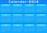 Blue Calendar 2014 Vector