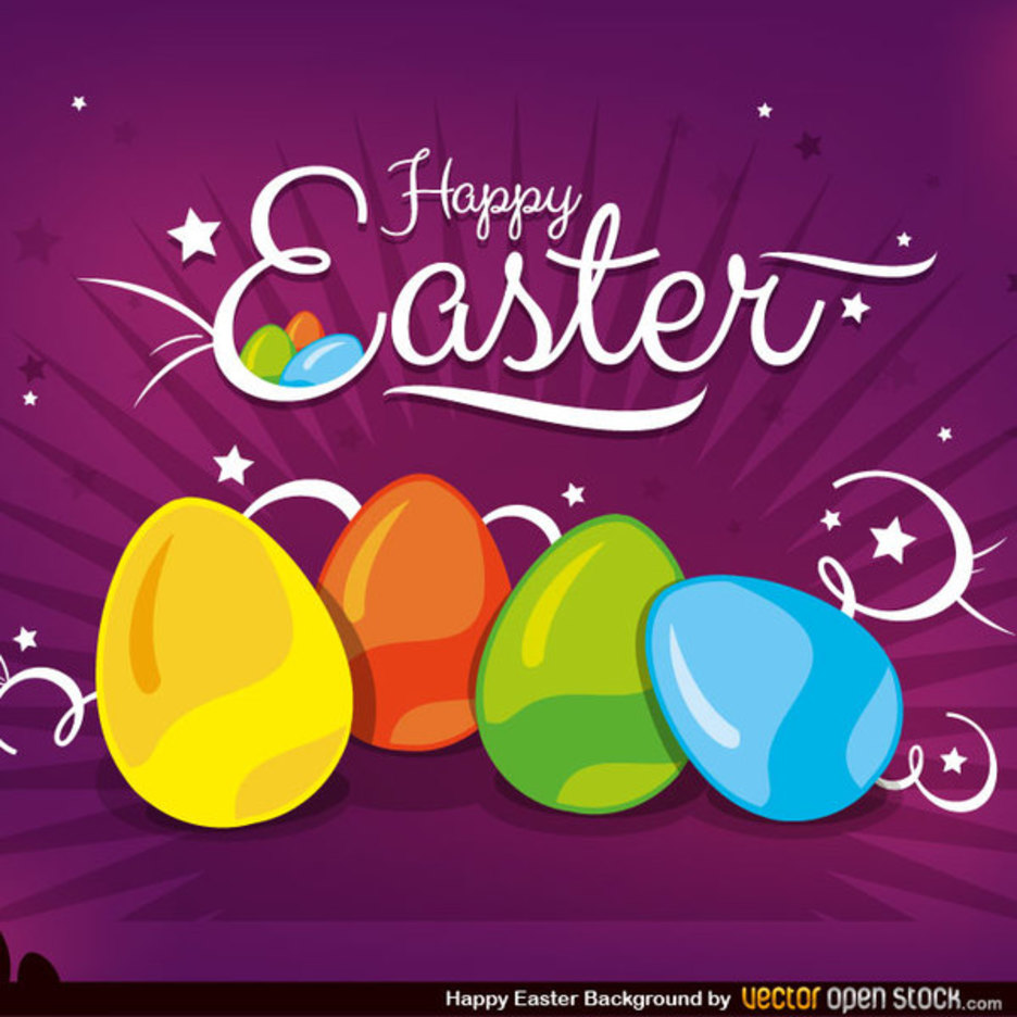 Creative Happy Easter Vector Background