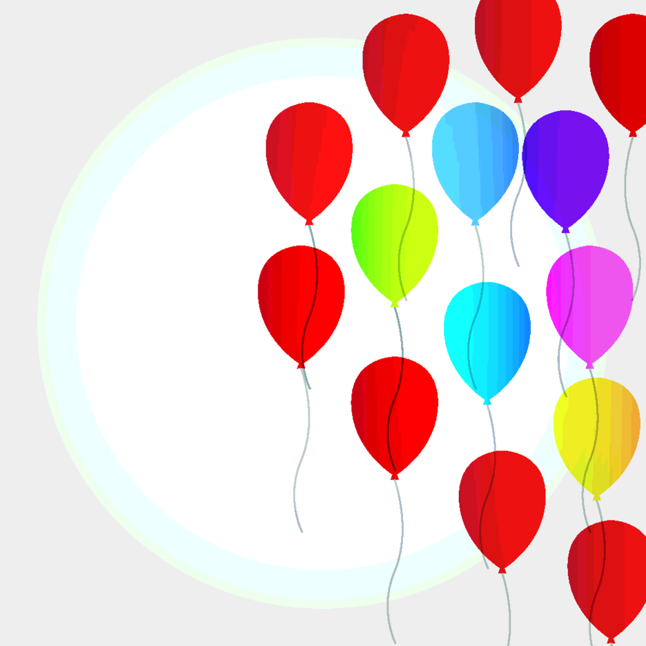 Free Balloon Vector Background