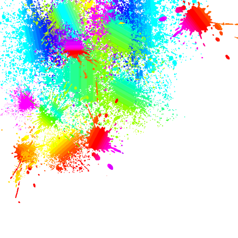 Bright Color Splatter Vector