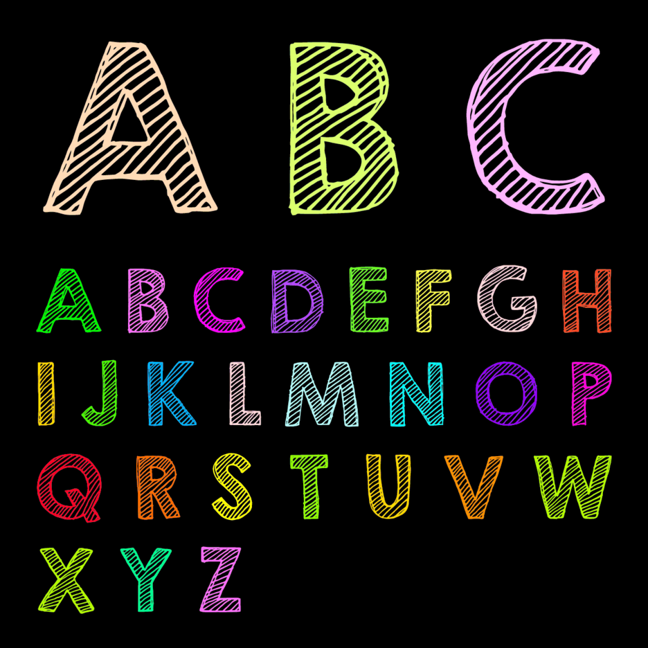 Free Chalk Drawn ABC Vector