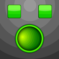 Glowing Green Button Vector