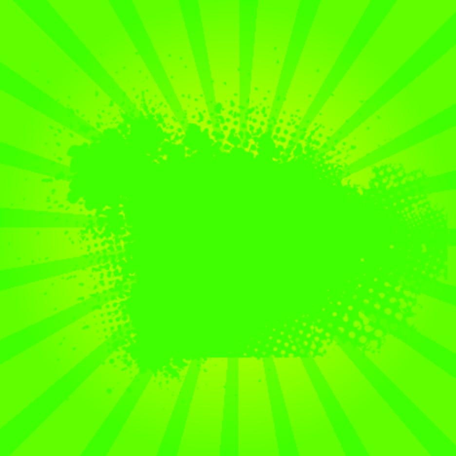 Green Grunge Sunburst Vector