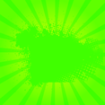 Green Grunge Sunburst Vector