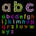 Lower Case ABC Vector