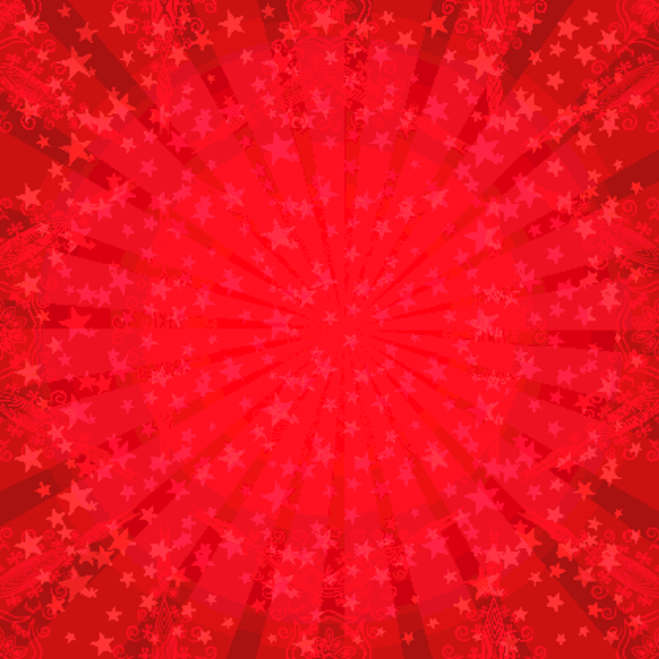 Red Star Sunburst Vector