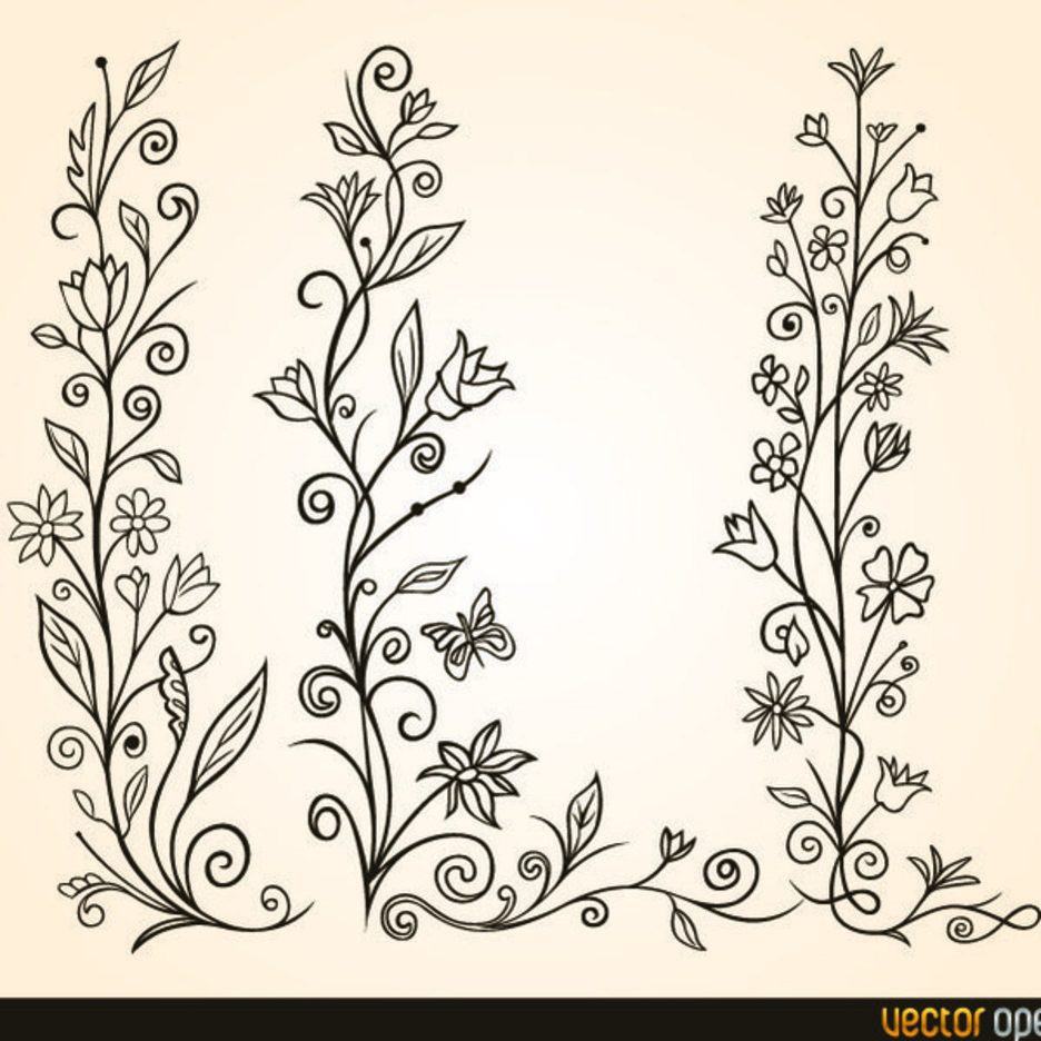 Free Vector Flower Ornament
