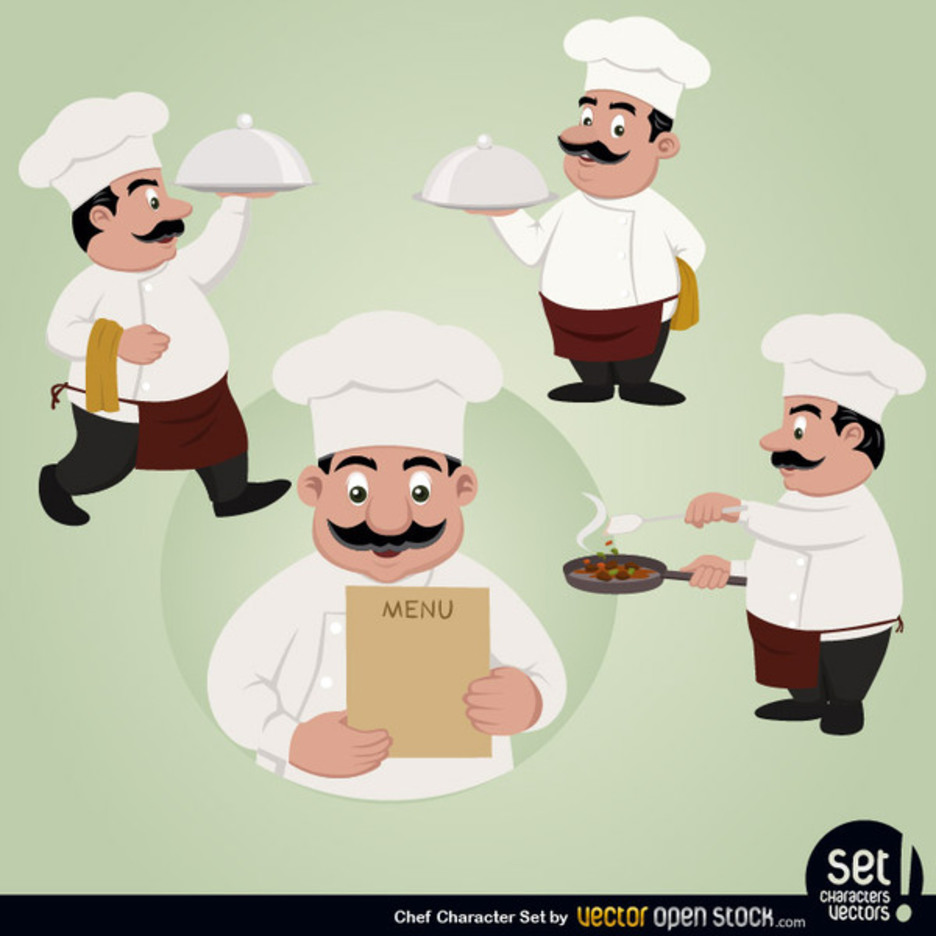 Free Vector Chef Character Set
