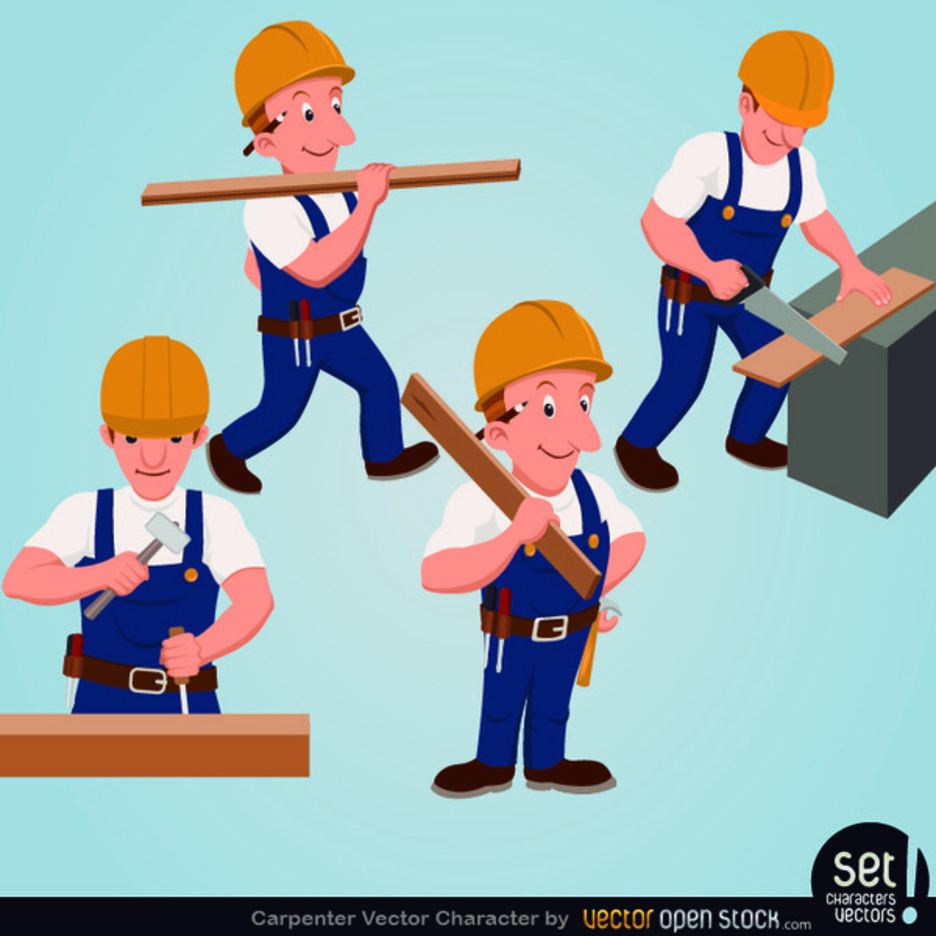 Free Vector Carpenter Character