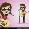 Free Vector Singer Girl Character