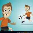 Free Vector Soccer Player Character