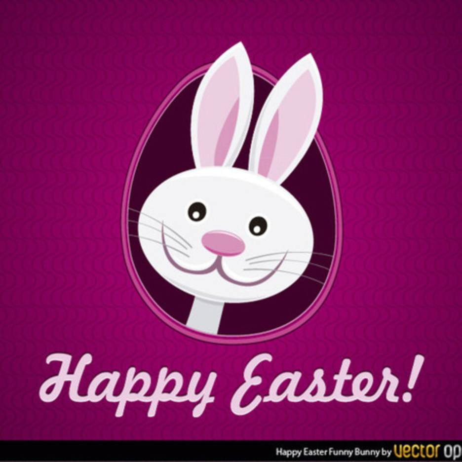 Free Happy Easter Bunny Vector