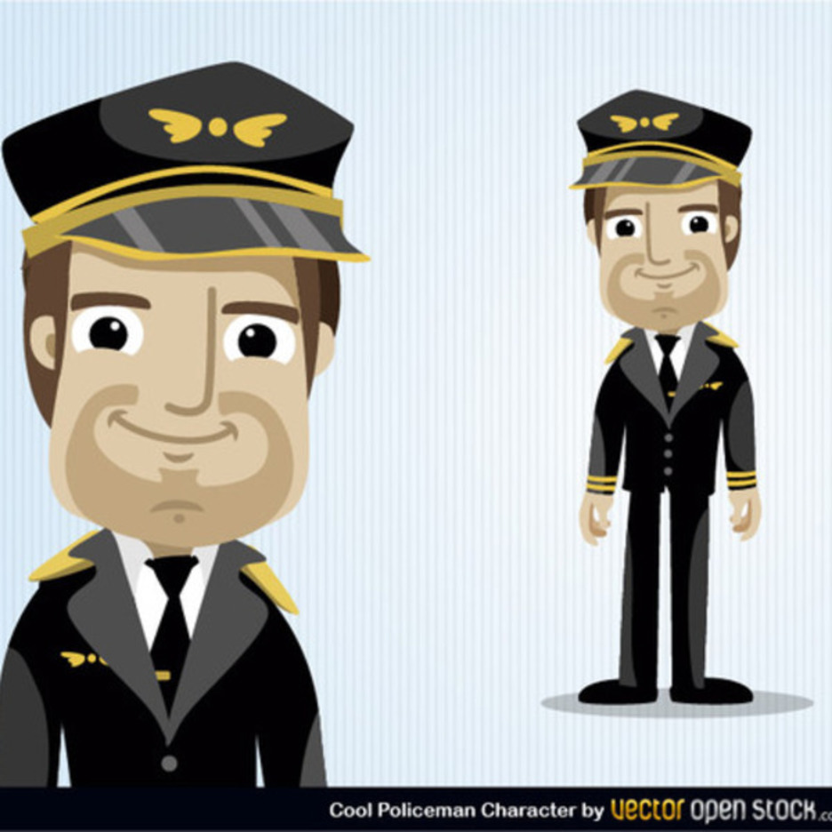 Free Vector Pilot Cartoon Character