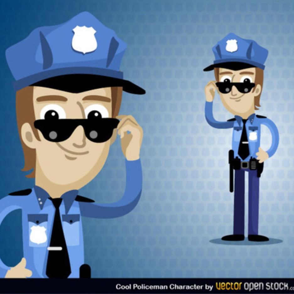 Free Vector Policeman Cartoon Character